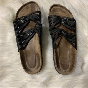 Black Birkenstock sandals size 39
